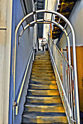 Digital Art - Stairwell From The Street by Glenn McCarthy Art and Photography