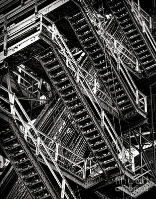 Factory Photograph - Stairwell Hell by Olivier Le Queinec