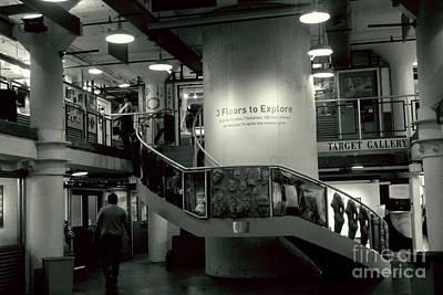 Photograph - Stairwell Of Torpedo Factory Art Center    Alexandria Va by Margie Avellino