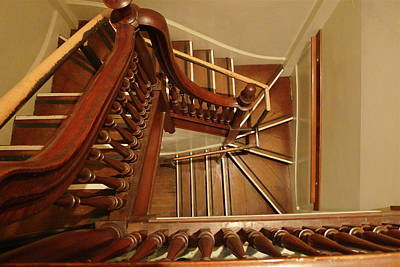 Photograph - Stairwell Perspective by Denise Mazzocco
