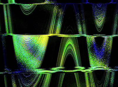 Digital Art - Stalactite Statlagmite by Suzanne L Kish