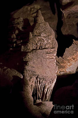 Photograph - Stalactites And Stalagmites-signed-#1091 by J L Woody Wooden