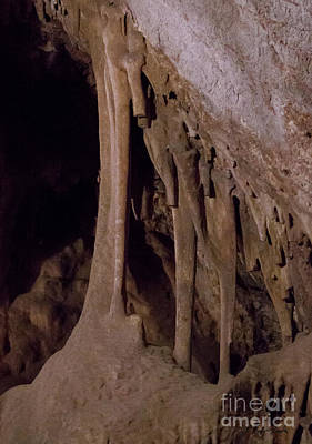 Photograph - Stalactites And Stalagmites-signed-#1147 by J L Woody Wooden