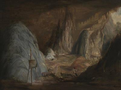 Cave Painting - Stalagmites, Burragalong Cavern by Conrad Martens