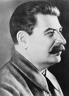 Communist Russia Photograph - Stalin by Russian School