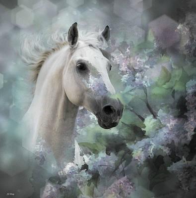 Western Art Mixed Media - Stallion Beauty by G Berry