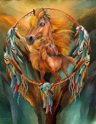 Mixed Media - Stallion Dreams by Carol Cavalaris