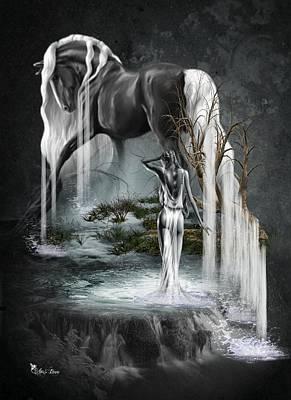 Digital Art - Stallion Falls by Ali Oppy