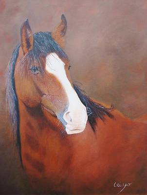 Painting - Stallion Portrait by Jean Yves Crispo
