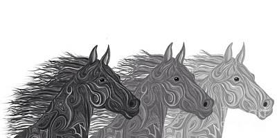 Stallions Shades Art Print by Nick Gustafson