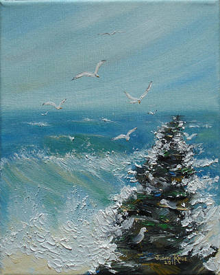 Painting - Stalwart Seagulls by Judith Rhue
