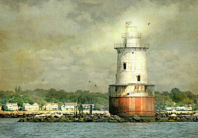 Photograph - Stamford Harbor Lighthouse Circa 1882 by Diana Angstadt