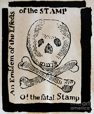 Photograph - Stamp Act: Cartoon, 1765 by Granger