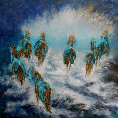 Painting - Stampede To Heaven by Maris Sherwood