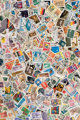 Postoffices Photograph - Stamps by BONB Creative