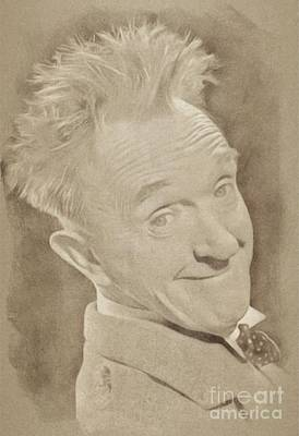 Hardy Drawing - Stan Laurel, Hollywood Legend By John Springfield by John Springfield