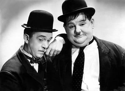 Stan Laurel, Oliver Hardy Laurel & Hardy Art Print by Everett
