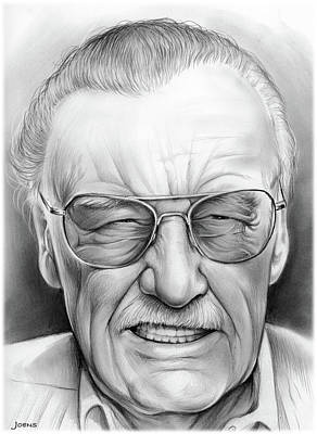 Stan Drawing - Stan Lee by Greg Joens