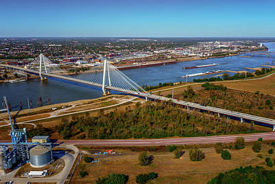 Photograph - Stan Musial Bridge At St Louis - Mississippi River Dsc08755 by Greg Kluempers
