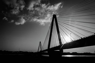 Photograph - Stan Musial Bridge St Louis Mo Black And White_dsc4591_16_65 by Greg Kluempers