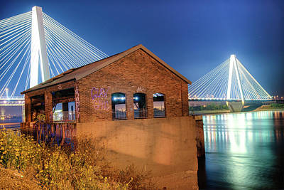 St. Louis Photograph - Stan Musial Veterans Memorial Bridge St Louis by Gregory Ballos