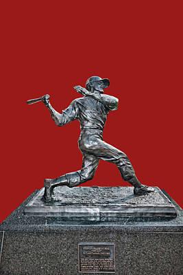 Photograph - Stan The Man Musial Statue - Busch Stadium by Allen Beatty