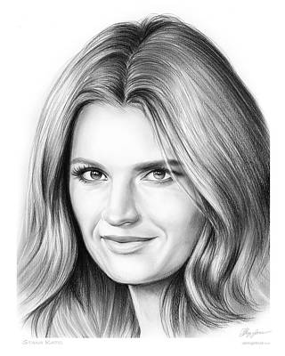 Castles Drawing - Stana Katic by Greg Joens