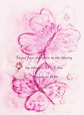 Painting - Christ Has Made Us Free by Hazel Holland