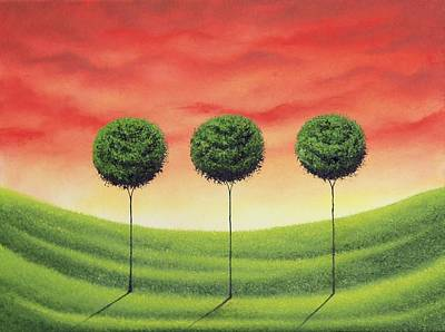 Modern Tree Painting - Stand Strong by Rachel Bingaman