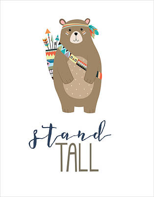 Bear Digital Art - Stand Tall by Jaime Friedman