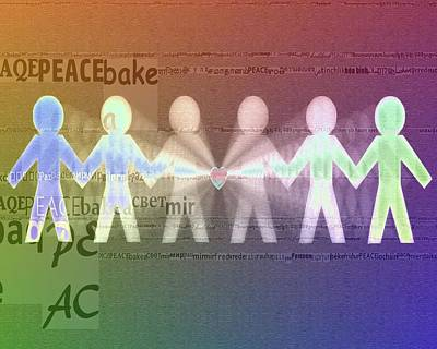 World Peace Digital Art - Stand Together In Peace by Dan Sproul