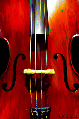 Jazz Digital Art - Stand Up Bass by Bill Cannon
