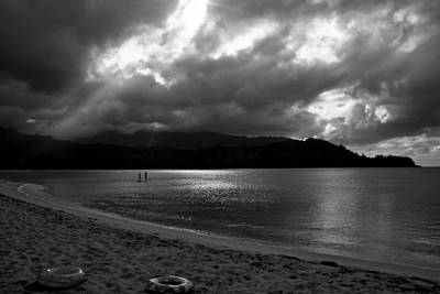 Photograph - Stand Up Paddlers In Stormy Skies by Lennie Green
