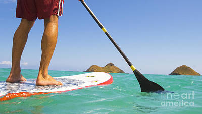Break Fast Photograph - Stand Up Paddling by Dana Edmunds - Printscapes