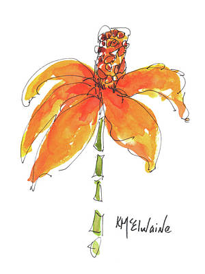 Painting - Stand Up Tall Coneflower by Kathleen McElwaine