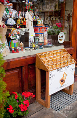 Toy Shop Photograph - Stand With Little Wooden Music Box by Arletta Cwalina