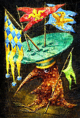 Imaginary World Painting - Standard-bearer by Lolita Bronzini