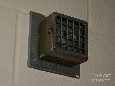 James Madison University Photograph - Standard Fire Alarm Horn by Ben Schumin