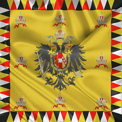 Digital Art - Standard Of The Austrian Emperor  by Serge Averbukh