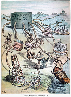Photograph - Standard Oil Cartoon by Granger