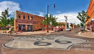 Standin On The Corner Route 66 Art Print by John Kelly
