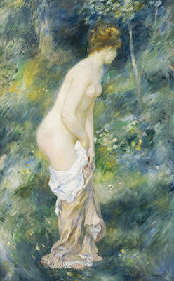 1887 Painting - Standing Bather by Pierre Auguste Renoir