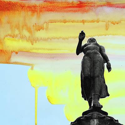 Mixed Media - Standing Buddha by Daniel De Blasio