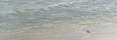 Standing By The Ocean Door Original by Lea Novak