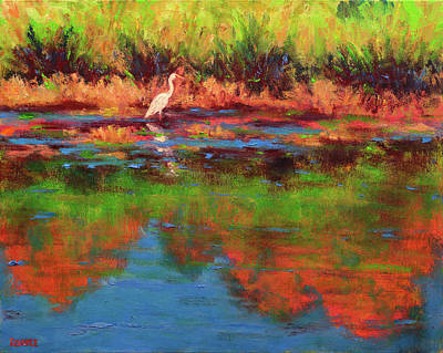 Painting - Langan Lake Heron I by Vernon Reinike
