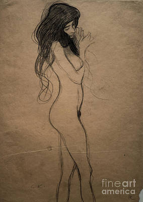 Drawing - Standing Female Nude by Gustav Klimt
