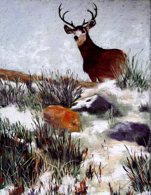 Art Print featuring the painting Standing Guard by Nancy Jolley