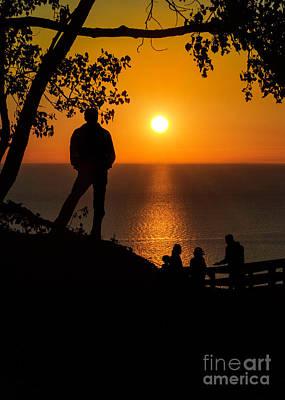 Photograph - Standing In An Orange Sky by Karen Jorstad