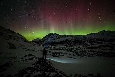 Photograph - Standing In Awe Of The Auroras by Craig Brown