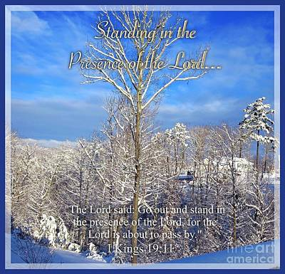 Spiritual Presence Photograph - Standing In The Presence Of The Lord... by Kimberlee Baxter